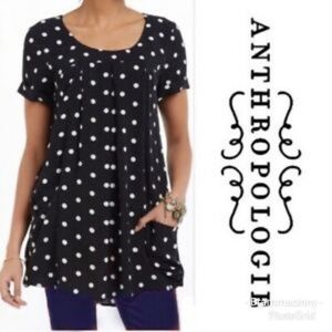 Anthropologie Holding Horses Baby Doll Tunic Top L